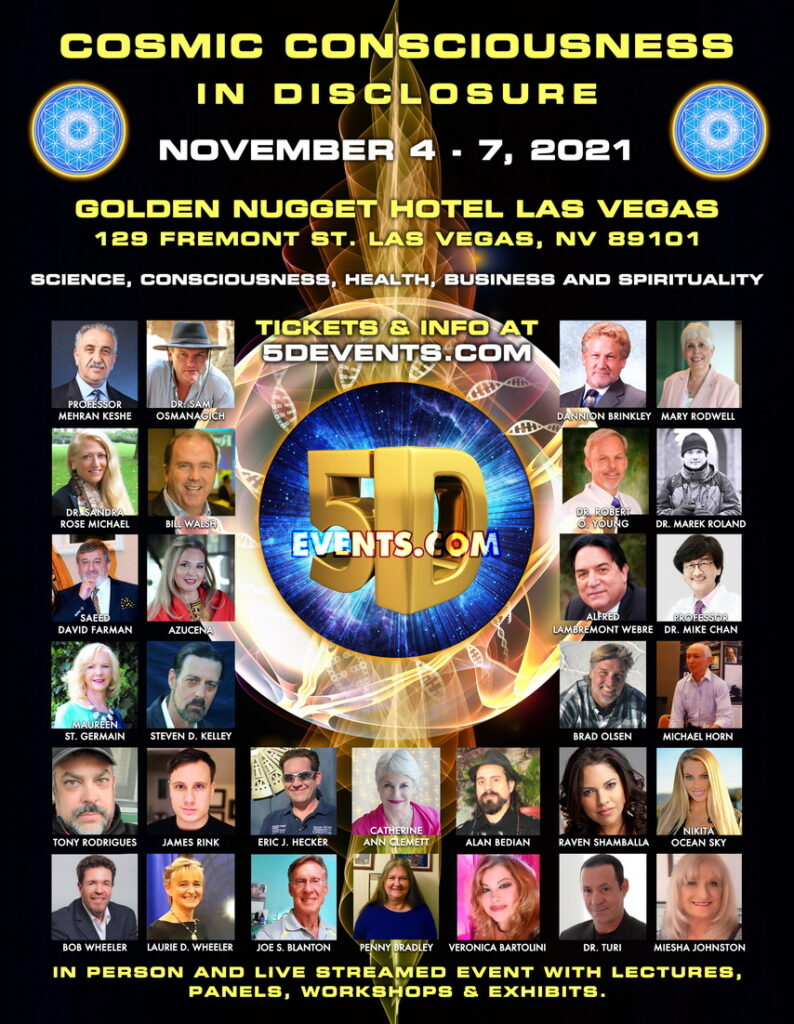 Speakers at the Cosmic Consciousness in Disclosure Las Vegas 5D Event.